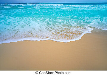 Caribbean white sand beach turquoise sea