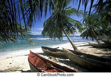 caribbian, américa, república, dominicano, mar