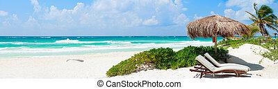 caribisch strand, panorama