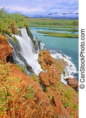 Caribou National Forest Waterfall Idaho