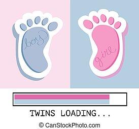caricamento, gemelli