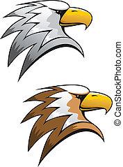 caricatura, águia, símbolo