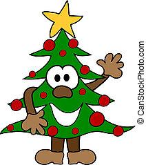caricatura, árvore natal