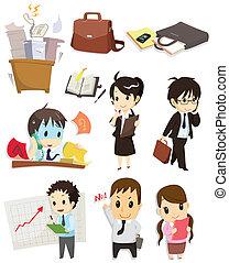 caricatura, ícone, trabalhador