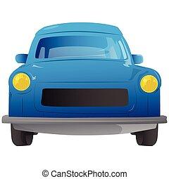 caricatura, 90s, europeu, car, vista dianteira