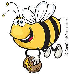 caricatura, abelha