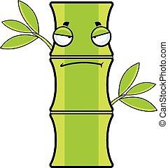 caricatura, aburrido, bambú