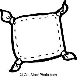 caricatura, almofada