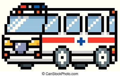 caricatura, ambulância