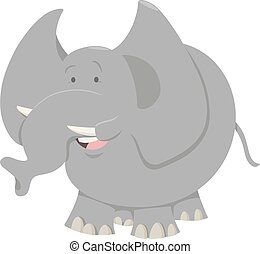 caricatura, animal, elefante