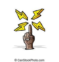 caricatura, apontando dedo