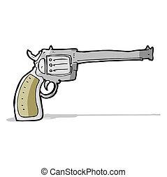 caricatura, arma de fuego