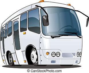 caricatura, autobús