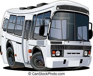 caricatura, autocarro