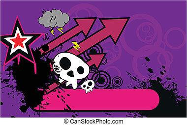 caricatura, background1, cranio