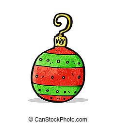 caricatura, bauble natal
