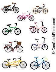caricatura, bicicleta
