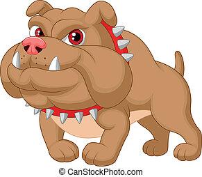 caricatura, bulldog