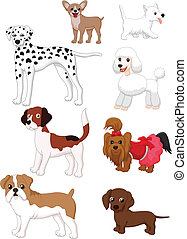 caricatura, cão, cobrança