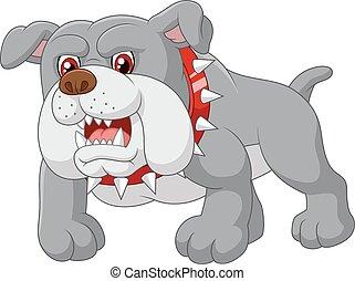 caricatura, cão protetor, casa