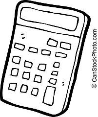 caricatura, calculadora