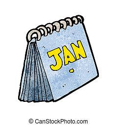 caricatura, calendário