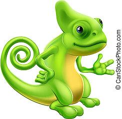 caricatura, camaleón