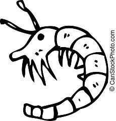 caricatura, camarón