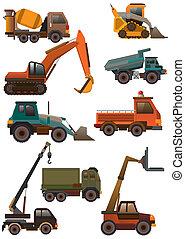 caricatura, caminhão, ícone