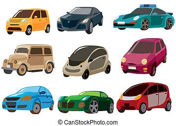 caricatura, car, ícone