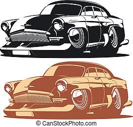 caricatura, car
