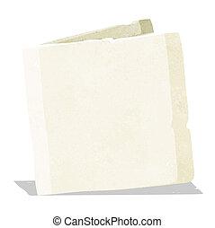 caricatura, cartão, em branco
