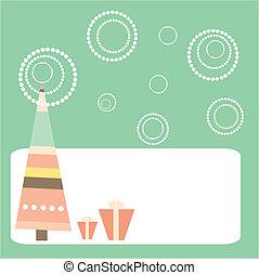 caricatura, cartão natal