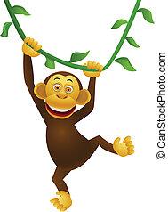 caricatura, chimpancé