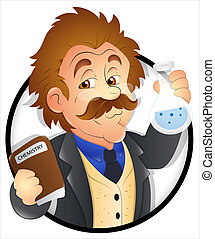 caricatura, científico
