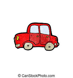 caricatura, coche
