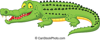 caricatura, cocodrilo