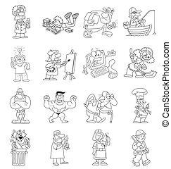 caricatura, colección