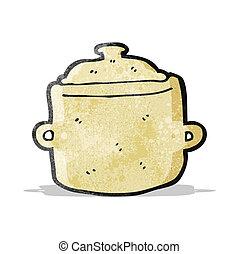 caricatura, cozinhando potenciômetro