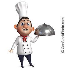 caricatura, cozinheiro