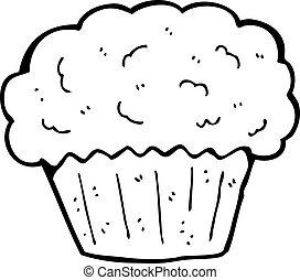 caricatura, cupcake