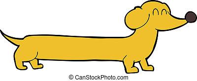 caricatura, dachshund