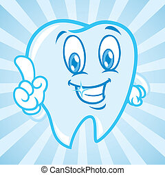 caricatura, dentes, com, fundo