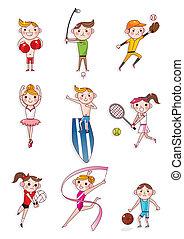 caricatura, desporto