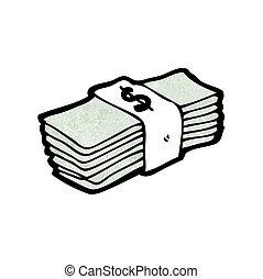 caricatura, dinheiro
