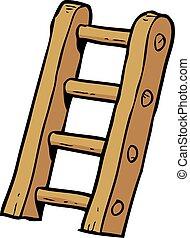 caricatura, doodle, escadas