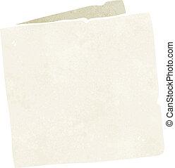 caricatura, em branco, cartão