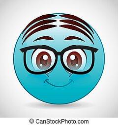 caricatura, emoticons