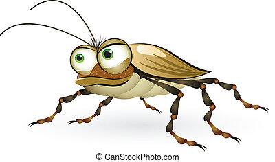 caricatura, escarabajo