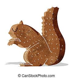 caricatura, esquilo